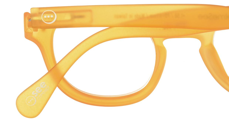 イジピジ リーディンググラス +1.5 #C-YELLOW CRYSTAL SOFT [老眼鏡/丸メガネ/オレンジ]  4