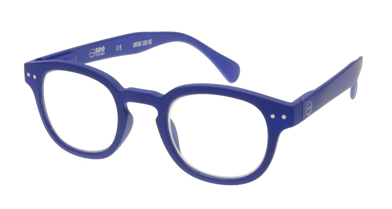 イジピジ リーディンググラス +2.0 #C-NAVY BLUE SOFT [老眼鏡/丸メガネ/青]