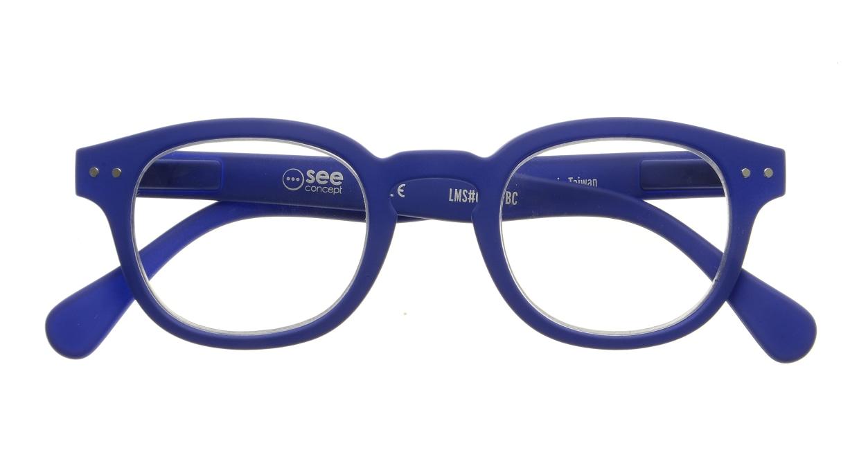 イジピジ リーディンググラス +2.0 #C-NAVY BLUE SOFT [老眼鏡/丸メガネ/青]  3