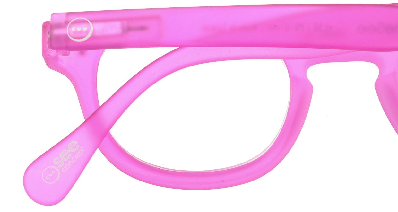 イジピジ リーディンググラス +1.5 #C-PINK CRYSTAL SOFT [老眼鏡/丸メガネ/ピンク]  4