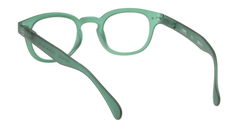 イジピジ リーディンググラス +2.0 #C-GREEN CRYSTAL SOFT [老眼鏡/丸メガネ/緑]  2
