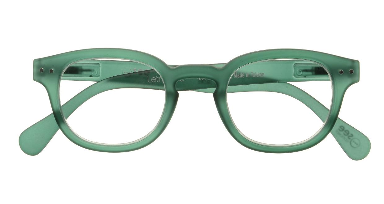 イジピジ リーディンググラス +2.0 #C-GREEN CRYSTAL SOFT [老眼鏡/丸メガネ/緑]  3