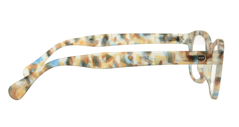 イジピジ リーディンググラス +1.5 #C-BLUE TORTOISE SOFT [老眼鏡/丸メガネ/派手]  1