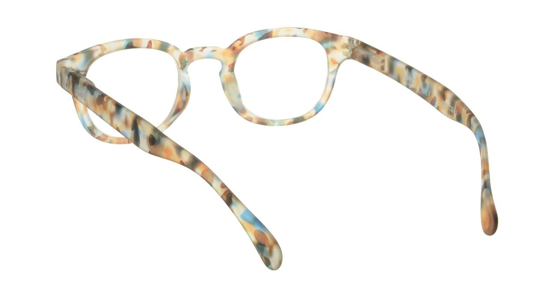 イジピジ リーディンググラス +2.0 #C-BLUE TORTOISE SOFT [老眼鏡/丸メガネ/派手]  2