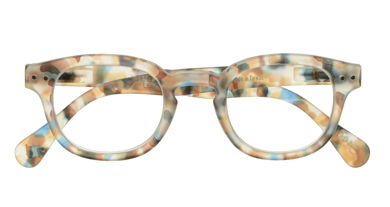 イジピジ リーディンググラス +2.0 #C-BLUE TORTOISE SOFT [老眼鏡/丸メガネ/派手]  3