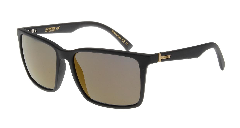 ボンジッパー AE217023-BLACK SATIN/GOLD GLO 偏光レンズ [ウェリントン]