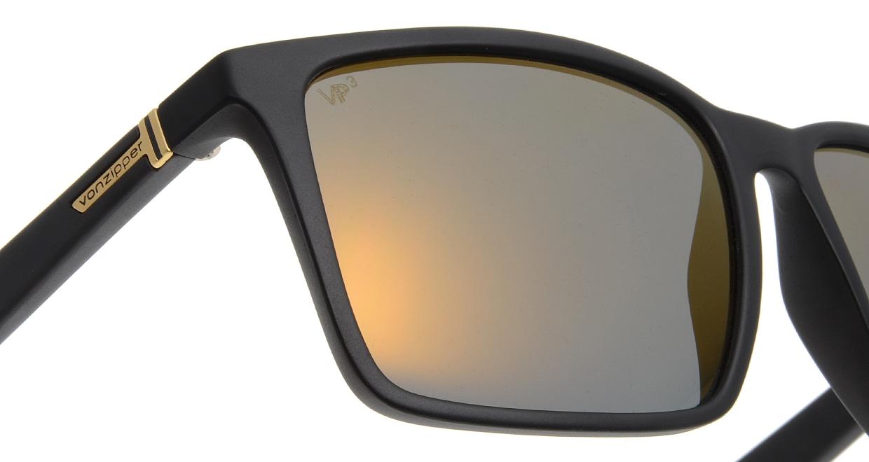 ボンジッパー AE217023-BLACK SATIN/GOLD GLO 偏光レンズ [ウェリントン]  4