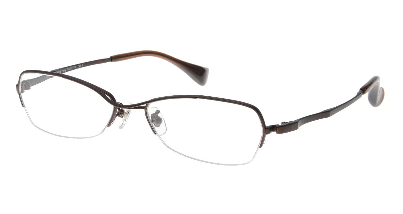 プラスオーエムジー ビジネス パーシー omg-036-1-54 [メタル/鯖江産/ハーフリム/スクエア/安い/茶色]
