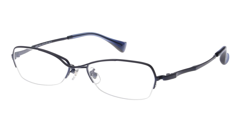 プラスオーエムジー ビジネス パーシー omg-036-2-54 [メタル/鯖江産/ハーフリム/スクエア/安い/青]