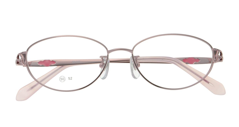 家メガネレンズセット 50-005-50-1 [伊達メガネ/メタル/オーバル/安い/ピンク]  3