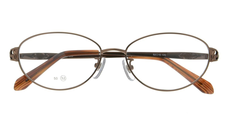 家メガネレンズセット 50-005-52-3 [伊達メガネ/メタル/オーバル/安い/茶色]  3