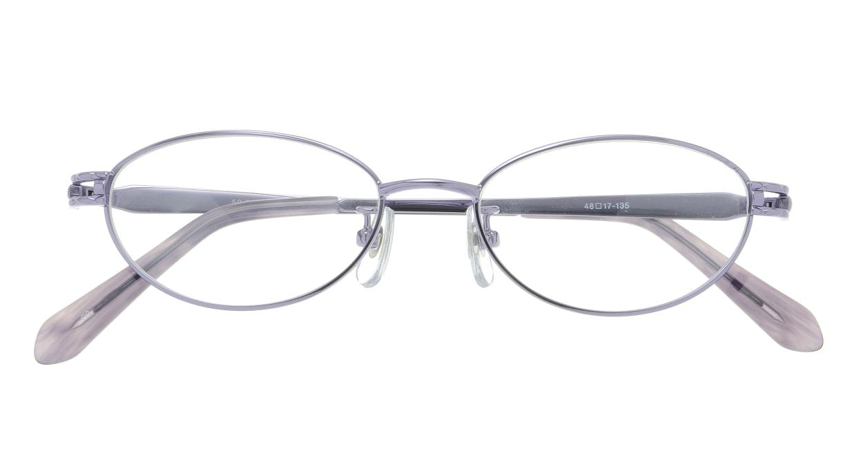 家メガネレンズセット 50-007-48-3 [伊達メガネ/メタル/オーバル/安い/紫]  3