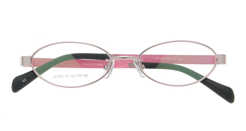 家メガネレンズセット JP-023-2 [伊達メガネ/メタル/オーバル/安い/ピンク]  3