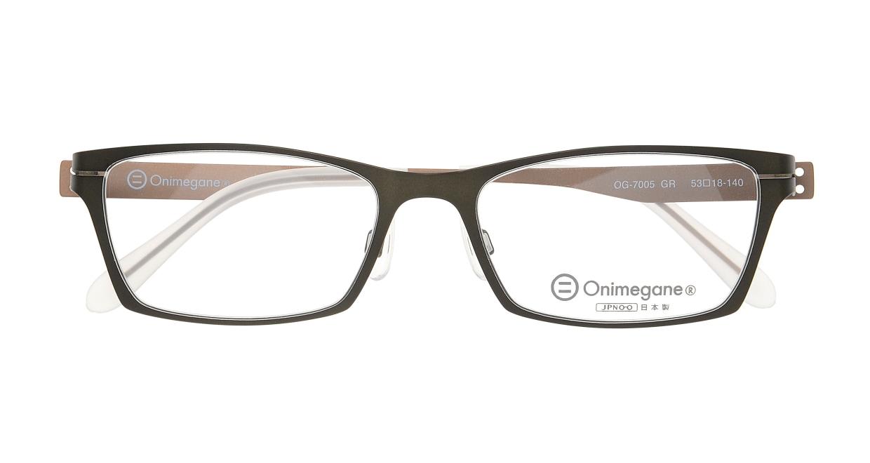 オニメガネ OG7005-GR [メタル/鯖江産/スクエア/緑]