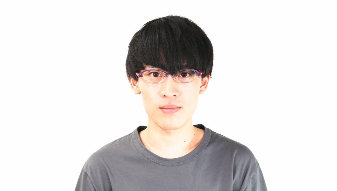 オニメガネ OG7201-V [メタル/鯖江産/ハーフリム/オーバル/紫]  4