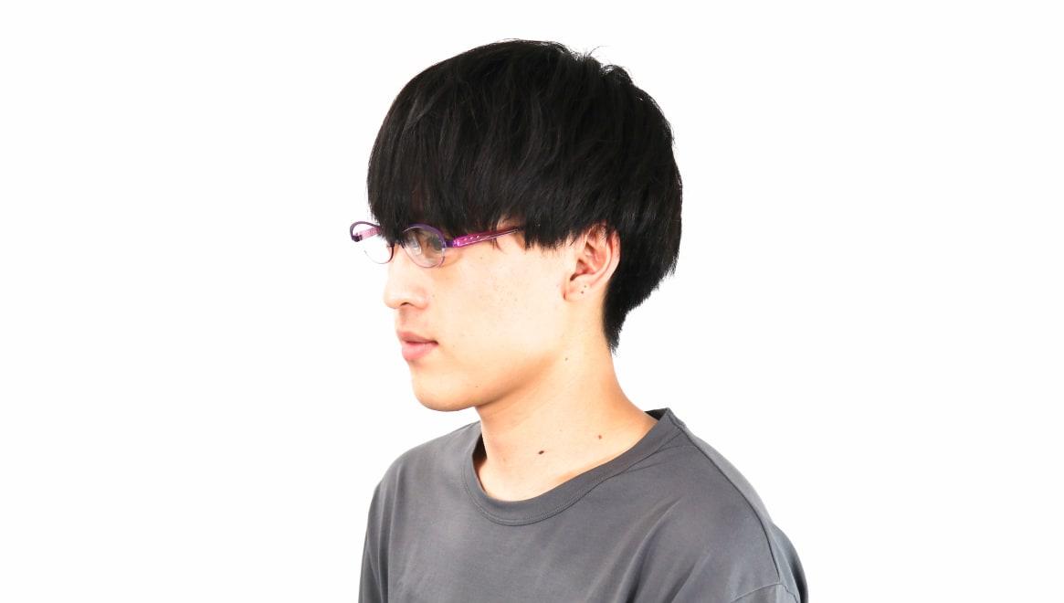 オニメガネ OG7201-V [メタル/鯖江産/ハーフリム/オーバル/紫]  5