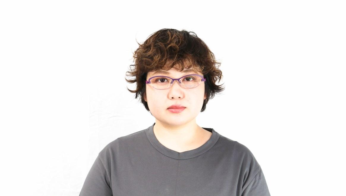 オニメガネ OG7201-V [メタル/鯖江産/ハーフリム/オーバル/紫]  6