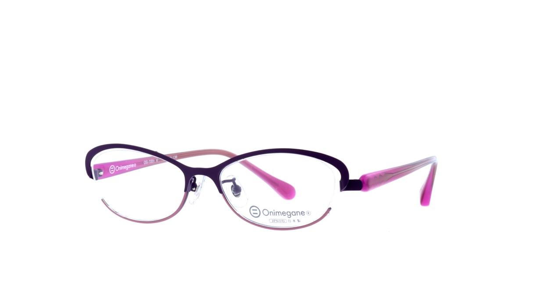 オニメガネ OG7201-V [メタル/鯖江産/ハーフリム/オーバル/紫]  1