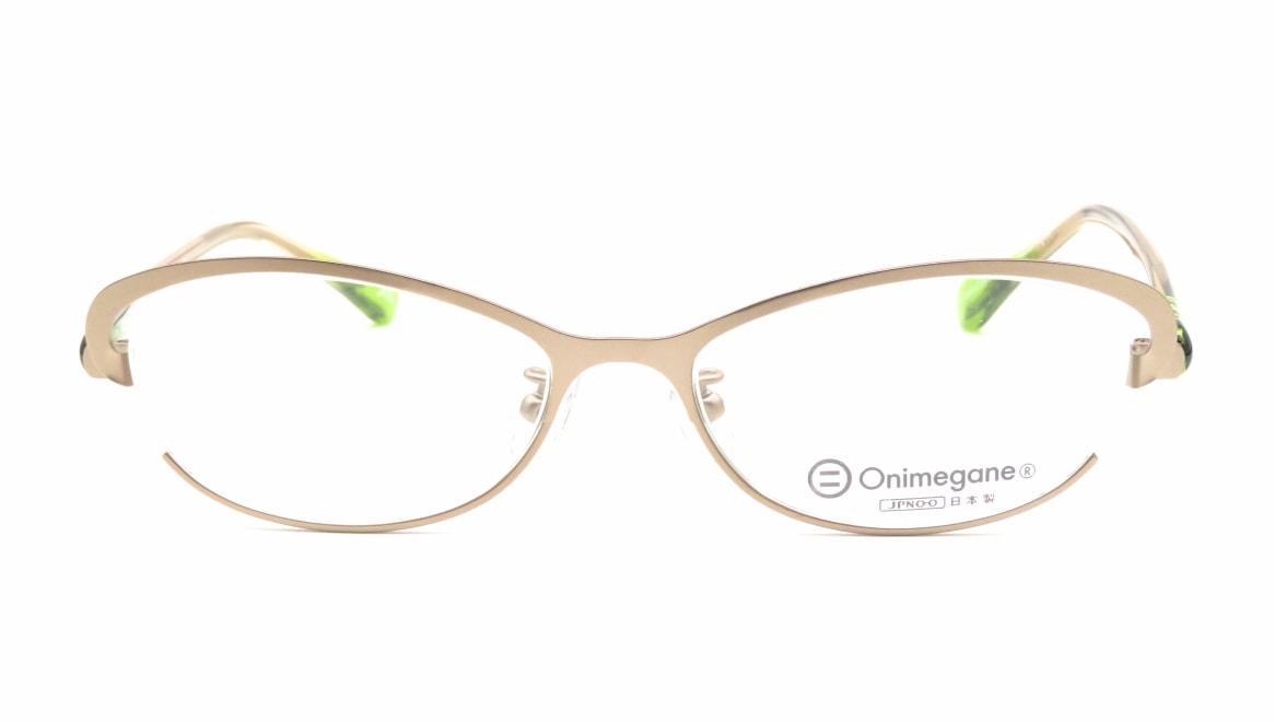 オニメガネ OG7201-SG [メタル/鯖江産/ハーフリム/オーバル/ゴールド]