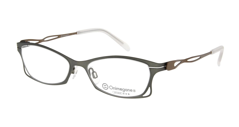 オニメガネ OG7205-GR [メタル/鯖江産/フォックス/緑]  1