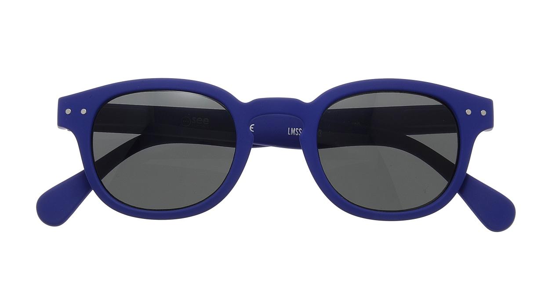 イジピジ サングラス #C-SUN NAVY BLUE SOFT [ウェリントン]  3