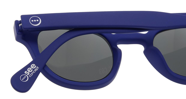 イジピジ サングラス #C-SUN NAVY BLUE SOFT [ウェリントン]  4