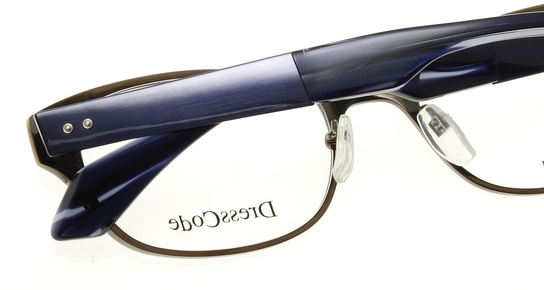 ドレスコード RIGIDOR-DC22247-BR [メタル/鯖江産/ウェリントン/茶色]  4