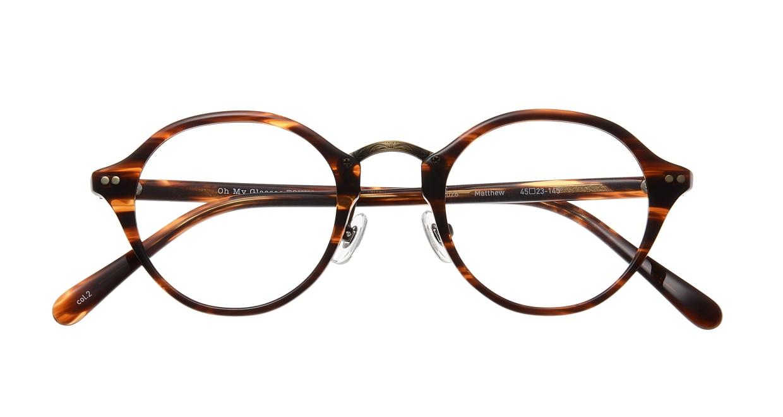 Oh My Glasses TOKYO Matthew omg-026-2 [鯖江産/丸メガネ/べっ甲柄]  3