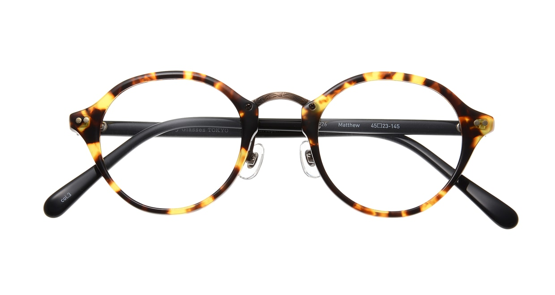 Oh My Glasses TOKYO Matthew omg-026-3 [鯖江産/丸メガネ/べっ甲柄]  3