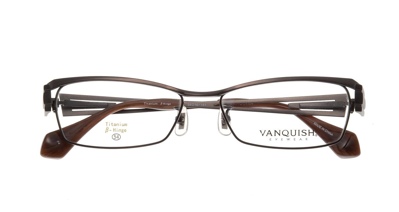 ヴァンキッシュ VQ-1013-C-2-BR [メタル/スクエア/茶色]  3