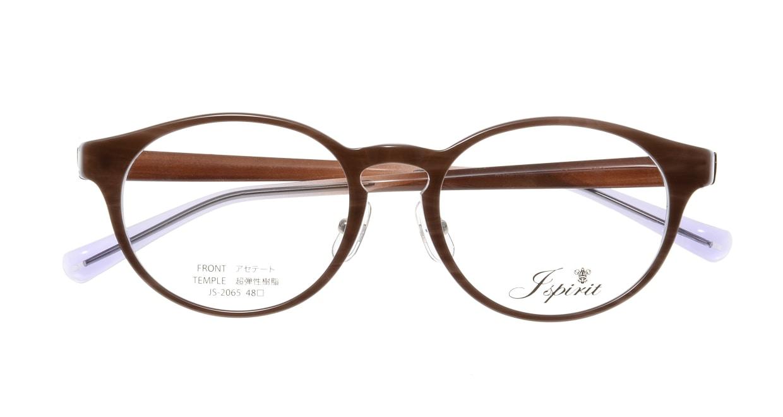 ジェイスピリット JS-2065-24-48 [鯖江産/丸メガネ/茶色]  3