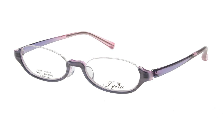 ジェイスピリット JS-2067-3-49 [鯖江産/アンダーリム/オーバル/紫]