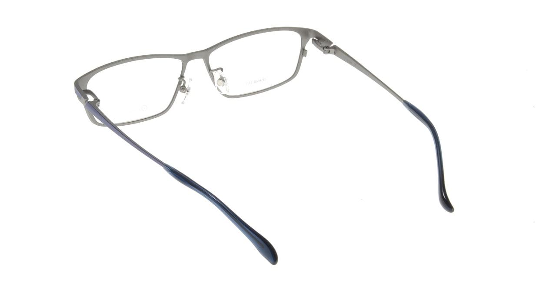 アミパリ TP-8500L-18-57 [メタル/鯖江産/スクエア/青]  2