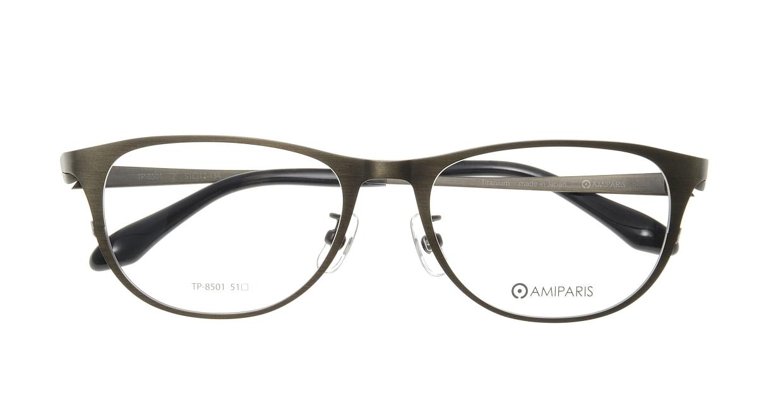 アミパリ TP-8501-7-51 [メタル/鯖江産/ウェリントン/緑]  3