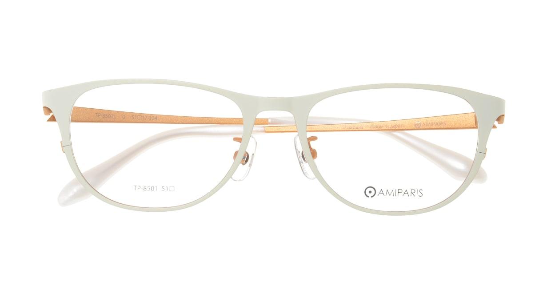 アミパリ TP-8501L-0-51 [メタル/鯖江産/ウェリントン/白]  3