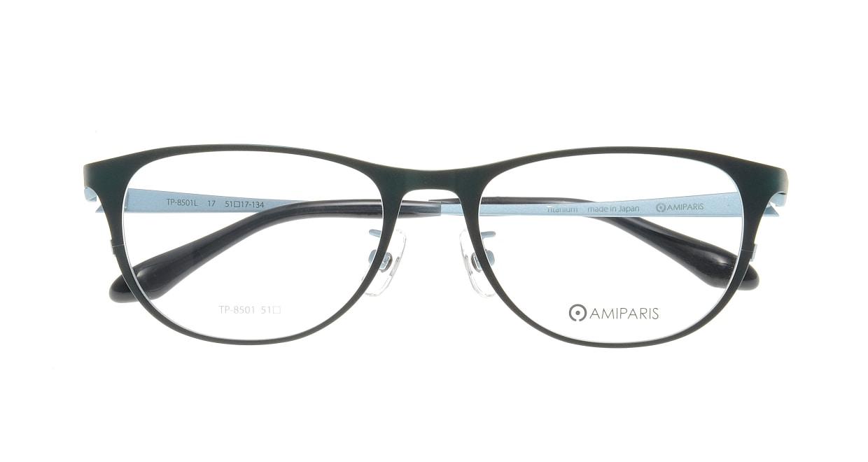 アミパリ TP-8501L-17-51 [メタル/鯖江産/ウェリントン/緑]  3