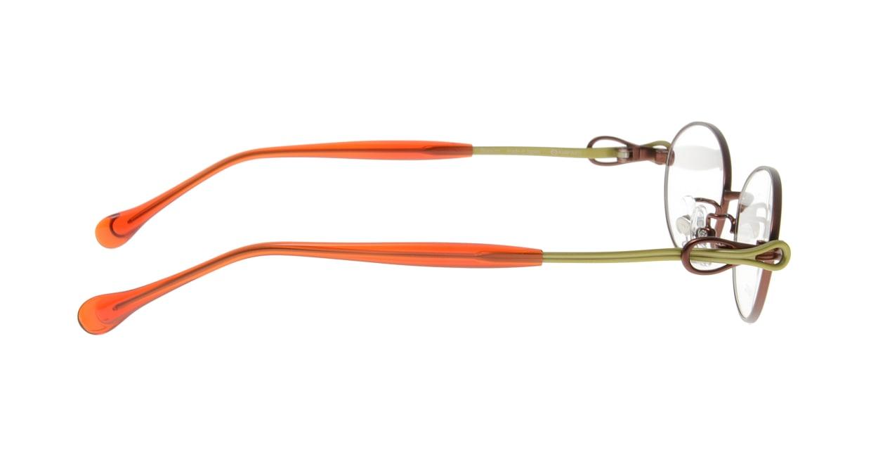 アミパリ TS-8010-4-52 [メタル/鯖江産/オーバル/オレンジ]  1