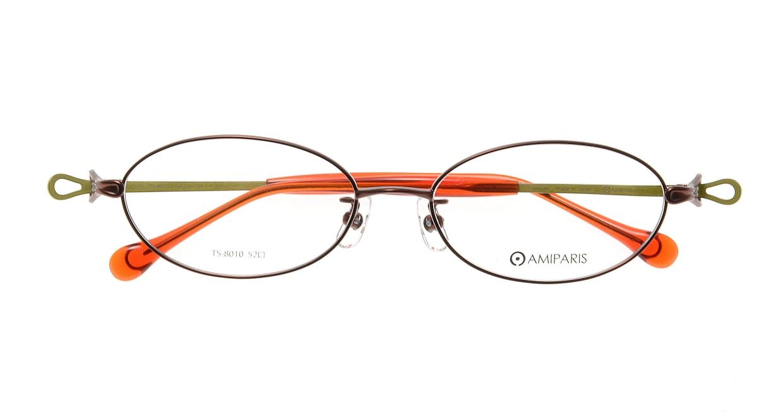 アミパリ TS-8010-4-52 [メタル/鯖江産/オーバル/オレンジ]  3