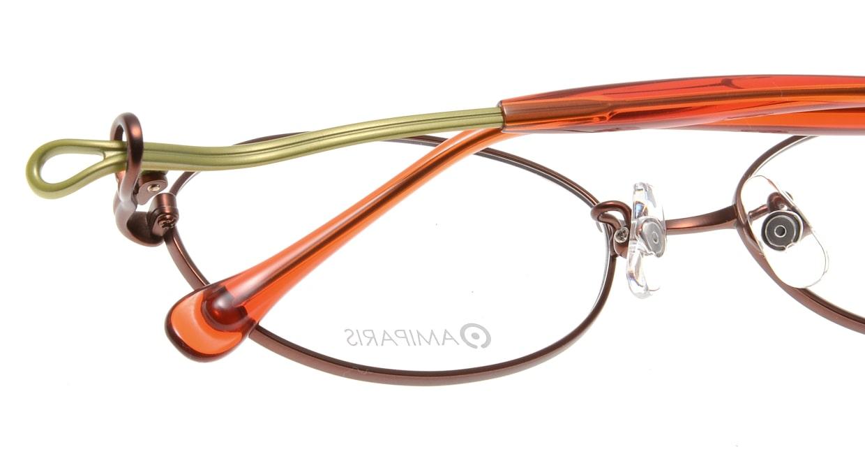 アミパリ TS-8010-4-52 [メタル/鯖江産/オーバル/オレンジ]  4