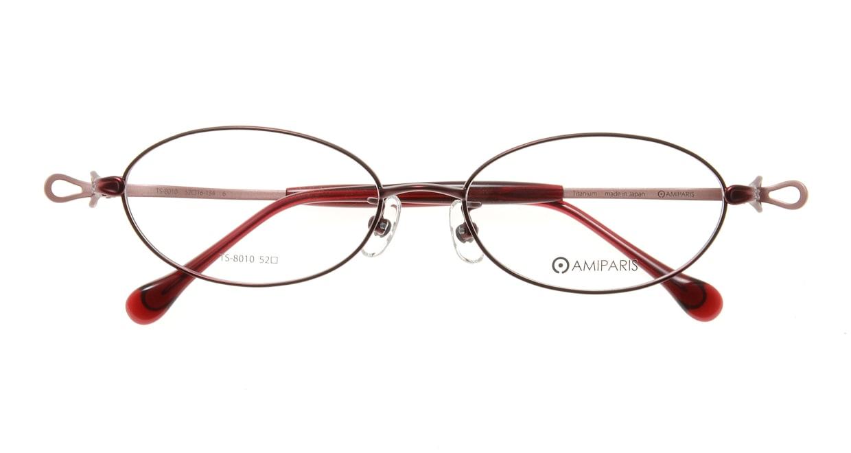 アミパリ TS-8010-6-52 [メタル/鯖江産/オーバル/赤]  3