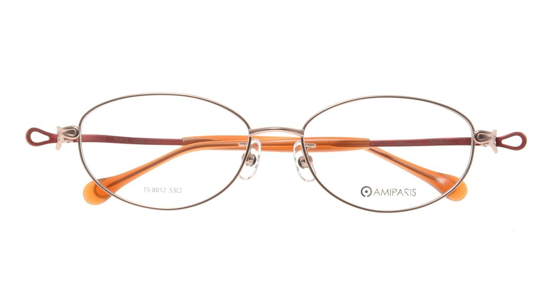 アミパリ TS-8012-1-53 [メタル/鯖江産/オーバル/ピンク]  3