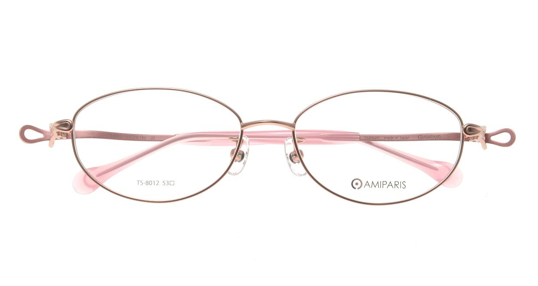 アミパリ TS-8012-20-53 [メタル/鯖江産/オーバル/ピンク]  3