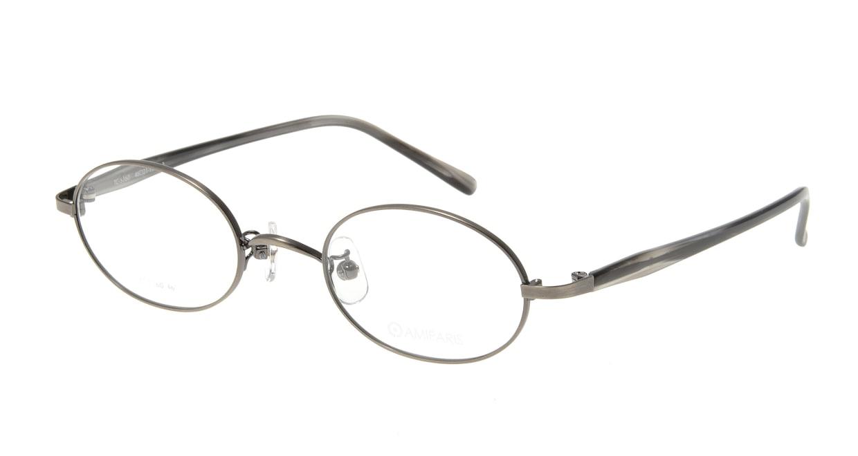 アミパリ TC-5160-2-46 [メタル/鯖江産/オーバル/グレー]