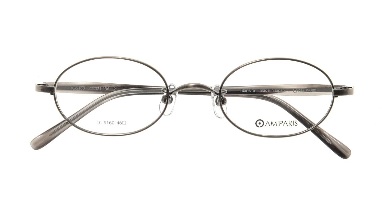 アミパリ TC-5160-2-46 [メタル/鯖江産/オーバル/グレー]  3
