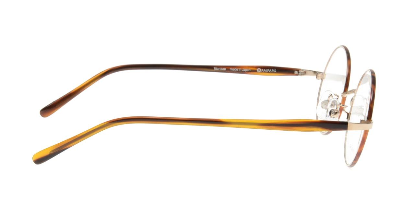アミパリ TC-5163-71-44 [メタル/日本製・鯖江産/チタン/丸メガネ/べっ甲柄]  1