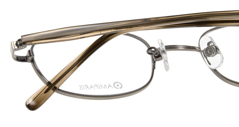 アミパリ TC-5164-12-48 [メタル/鯖江産/オーバル/グレー]  4