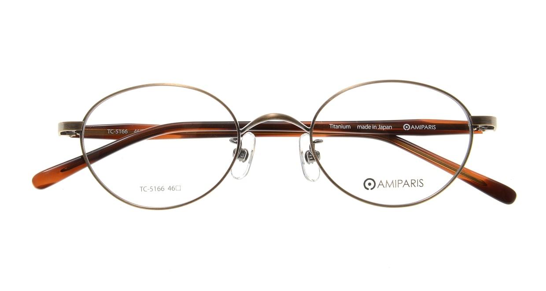 アミパリ TC-5166-1-46 [メタル/鯖江産/丸メガネ/ゴールド]  3