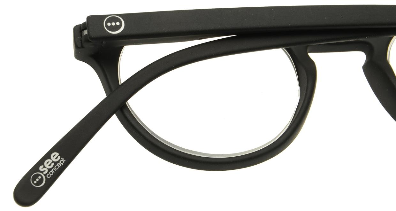イジピジ リーディンググラス +2.5 #A-BLACK SOFT [老眼鏡/黒縁/丸メガネ]  4