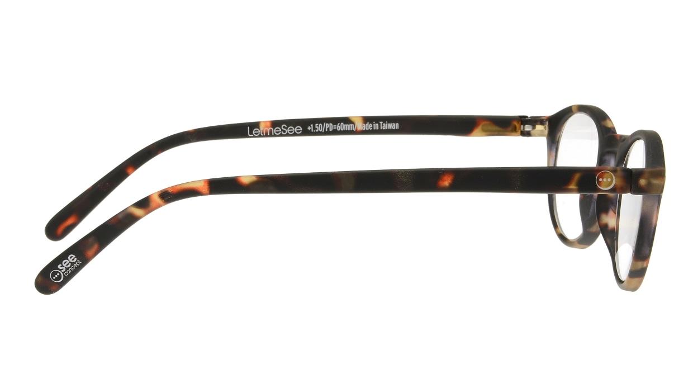 イジピジ リーディンググラス +2.5 #A-TORTOISE SOFT [老眼鏡/丸メガネ/べっ甲柄]  1