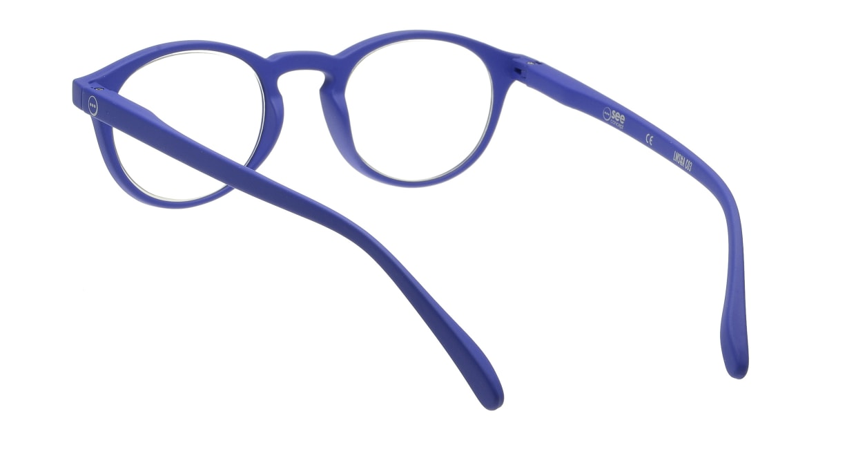 イジピジ リーディンググラス +2.5 #A-NAVY BLUE SOFT [老眼鏡/丸メガネ/青]  2